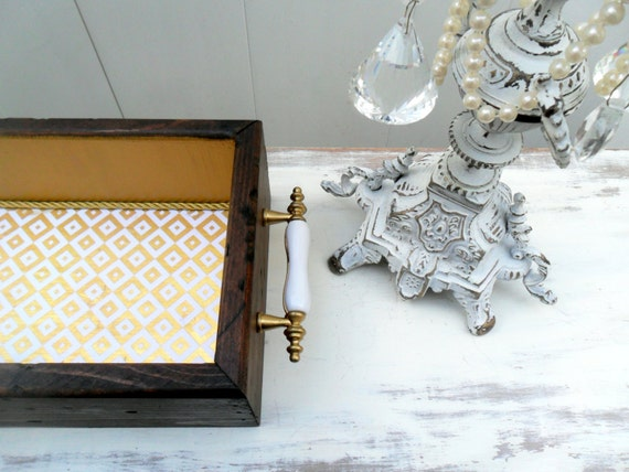 large wooden box gold home decor rustic chic rustic glam