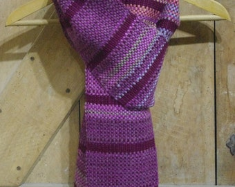 Purple and Multi Couloured Scarf