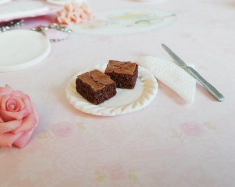 miniature food brownie with caramel on top