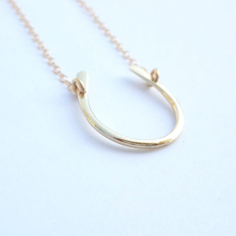 horseshoe necklace gold filled necklace gold horseshoe