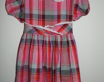 Vintage 1960s Handmade Little Girl's Dress Size 6