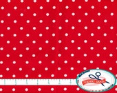 RED & WHITE DOT Fabric by the Yard, Fat Quarter Red Fabric Polka Dot Fabric 100% Cotton Fabric Quilting Fabric Apparel Fabric Yardage w5-14