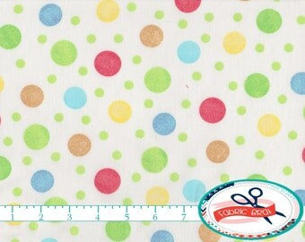 PASTEL DOTS Fabric by the Yard, Fat Quarter NURSERY Fabric Baby Fabric Polka dot Quilting Fabric 100% Cotton Fabric Apparel Fabric t5-39