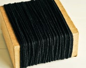 Thick Cotton Twine in Black - 10 Yards - Halloween Packaging Gift Wrapping String Cord Trim Ribbon Pretty Vintage Party Crafting Decor