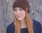 Chunky Button Tuque - Brown
