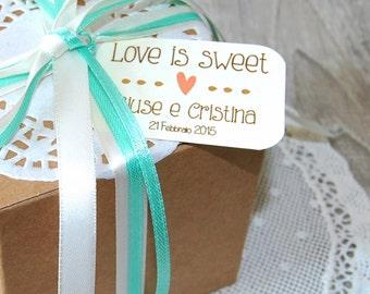20 Custom tags for rustic wedding