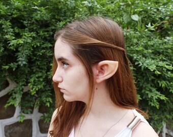 Elf Latex Prosthetic Ears - Zelda Elven Cosplay Halloween Fantasy Pointed LARP