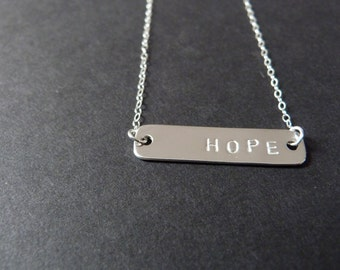 Silver hope necklace, meaningful gifts, pregnancy miracle, miscarriage jewelry, infertility support, pregnancy after loss, ivf support