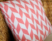 Pink Chevron/Arrow Pillow Cover - 18X18