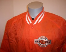 80s Syracuse University Orangemen nylon satin jacket Chalkline coat NCAA sports college football basketball lacrosse