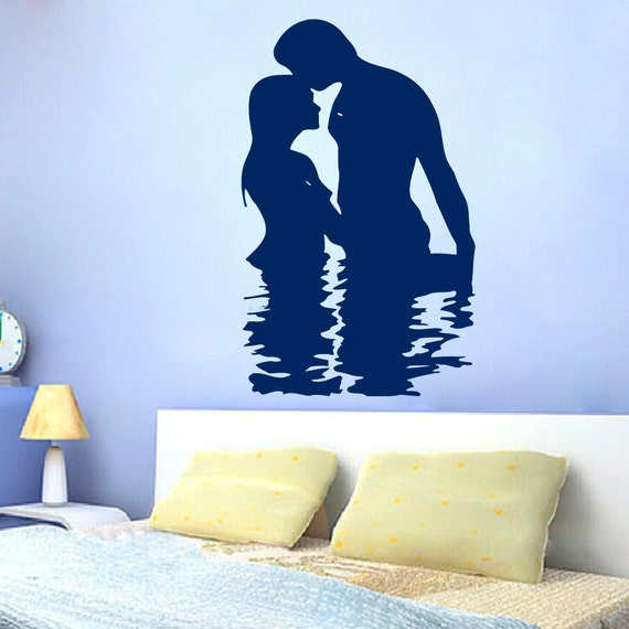 Wall Decor For Mens Bedroom 2 Bedroom Apartment Layout Ideas Bedroom Ideas Nz Bedroom Decor Black And Silver: Items Similar To FREE SHIPPING Love Wall Decals Man Woman