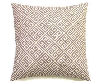 Purple Pillow Cover, 20x20 Pillow Cover, Decorative Pillows, Geometric Lavender Cushion, Girl Nursery Decor, Waverly Low Key Lilac