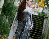 Silver Elven Style - Ravenswing Dress