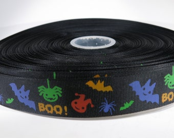 "5 yards of 1 inch ""Halloween"" grosgrain ribbon"