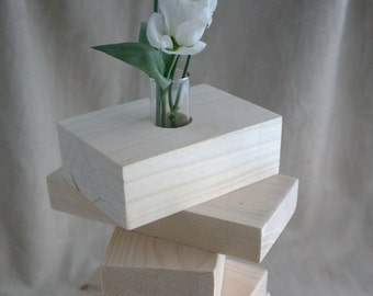 Contemporary wood vase