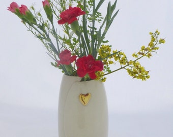 Large Ceramic vase | Hand painted with gold lustre | Wheel Thrown | Vase | Porcelain |