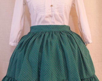 Green & Pink Heart Lolita Skirt
