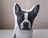 boston terrier dog shaped pillow stuffed animal for dog lovers throw cushion plush hand painted gift idea pit bull terrier