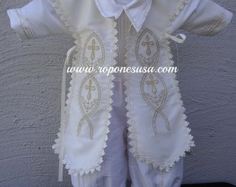 Carlos-316910 Stunning boy Christening gown handmade in beautiful Silk  embroidery