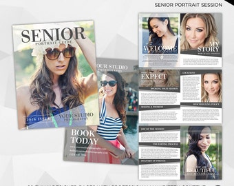 Senior Photography Magazine - 20 Page Photoshop Template for Photographer - INSTANT DOWNLOAD - PM001