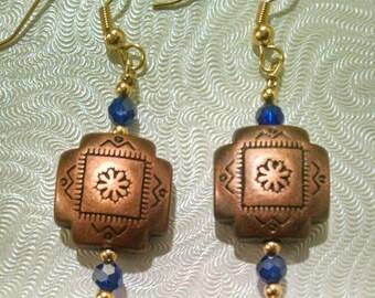 Beaded Copper Earrings Item No. 122