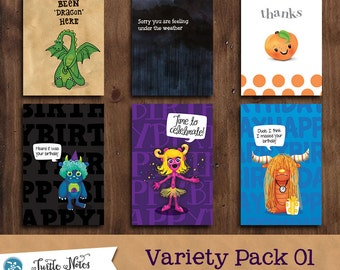 6 Greeting Cards  |  Variety Pack 01