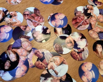 400 Pieces! High Quality Custom Photo Confetti. Sprinkle on tables. Table decor for Bridal Showers, Baby Showers, Birthday Parties and more!