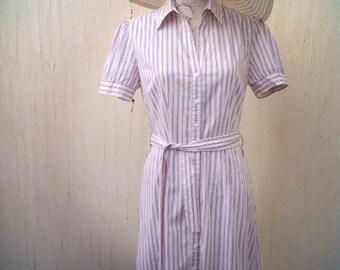 Vintage dress-vintage summer dress-cotton dress-stripe dress-nautical dress-dress-retro dress-beach party-sundress