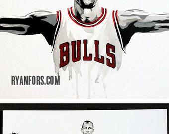 Michael Jordan Wings - Chicago Bulls Painting