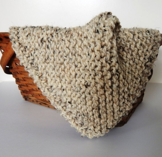 Chunky Knitted Baby Blankets Chunky Baby Blanket Kn...