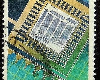 Microchips Achievements In Technology Australia -Handmade Framed Postage Stamp Art 18748
