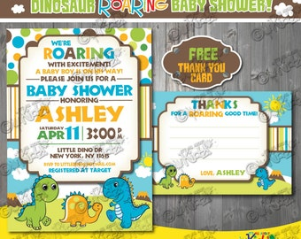 Printable Dinosaur Baby shower invitation, Dinosaur Baby shower Invite, Dino Baby shower invitation, printable Dino Baby shower Invite