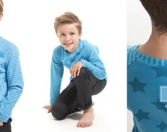 Minikrea pattern Raglan shirt
