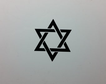 Star of David V2 Jew Jewish Israel symbol decal sticker, several sizes and colors to choose from
