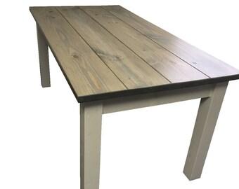 Driftwood Grey Harvest Table / Farmhouse Table / Farm Table / Cottage Table