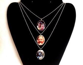 Photo Necklace, Custom Photo Jewelry Pendant, Dog, Cat, Memorial, Personalized