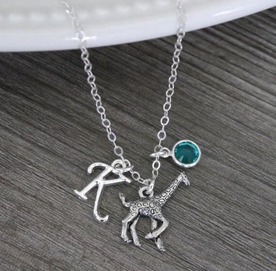 Giraffe Charm Bracelet: Giraffe Necklace Giraffe Charm Necklace Silver Giraffe
