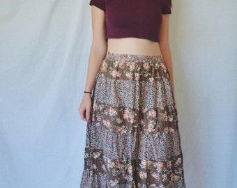 C L E A R A N C E Floral Patchwork Skirt