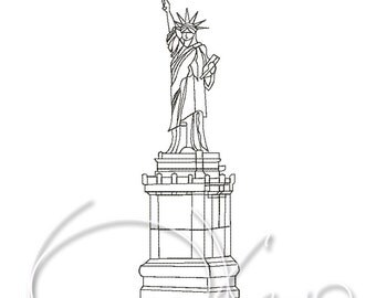MACHINE embroidery design - Statue of Liberty, American symbol, NY embroidery, New York embroidery, New York symbol