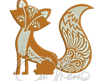 MACHINE EMBROIDERY FILE - Fox