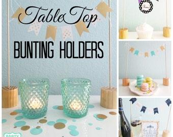 Tabletop Bunting Holders