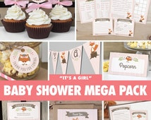 download fox baby shower games decorations printable bs02