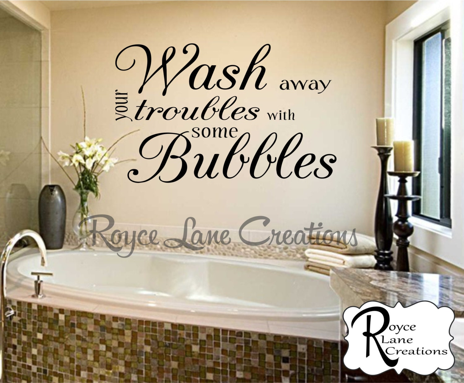 Bathroom wall decor wash away your troubles with some for Spa bathroom wall decor