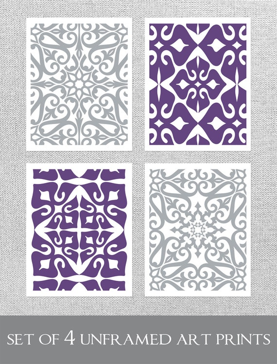 items similar to purple grey art purple wall art modern. Black Bedroom Furniture Sets. Home Design Ideas