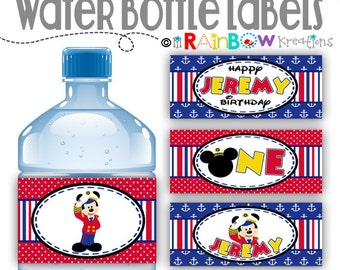 WBW-735: DIY - Nautical Mickey Mouse Water Bottle Wrappers