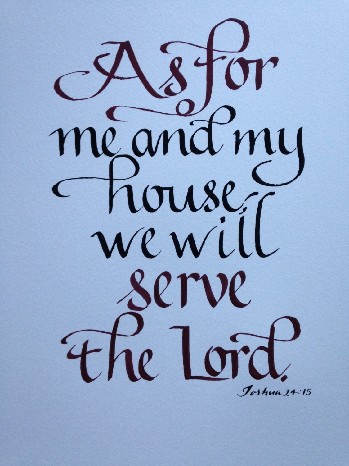 Custom Calligraphy Bible Verse Wall Art New By