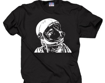 Astronaut Dog  Cool Funny T-shirt Dog In Space Helmet Tee Shirt