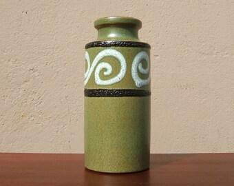 Vintage Vase by Scheurich - 60s - Mid Century Modern - West German Pottery - 203 22