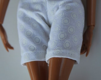 11.5 inch dolls clothes - white polkadot shorts (015) Barbie clothes