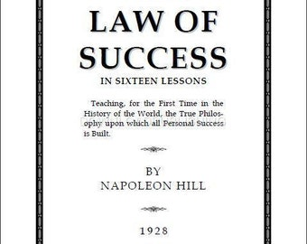 law of success in 16 lessons